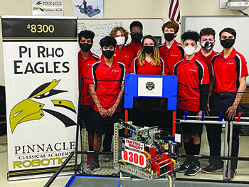 Pinnacle Classical Academy's robotics team wins two competitions