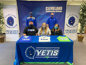 Trinity Hatchel signs a National Letter of Intent to play softball at Cleveland Community College.