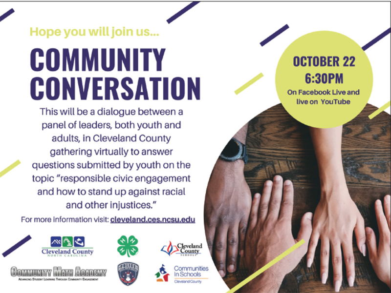Clev. Co. 4-H, others, host Community Conversation event on October 22